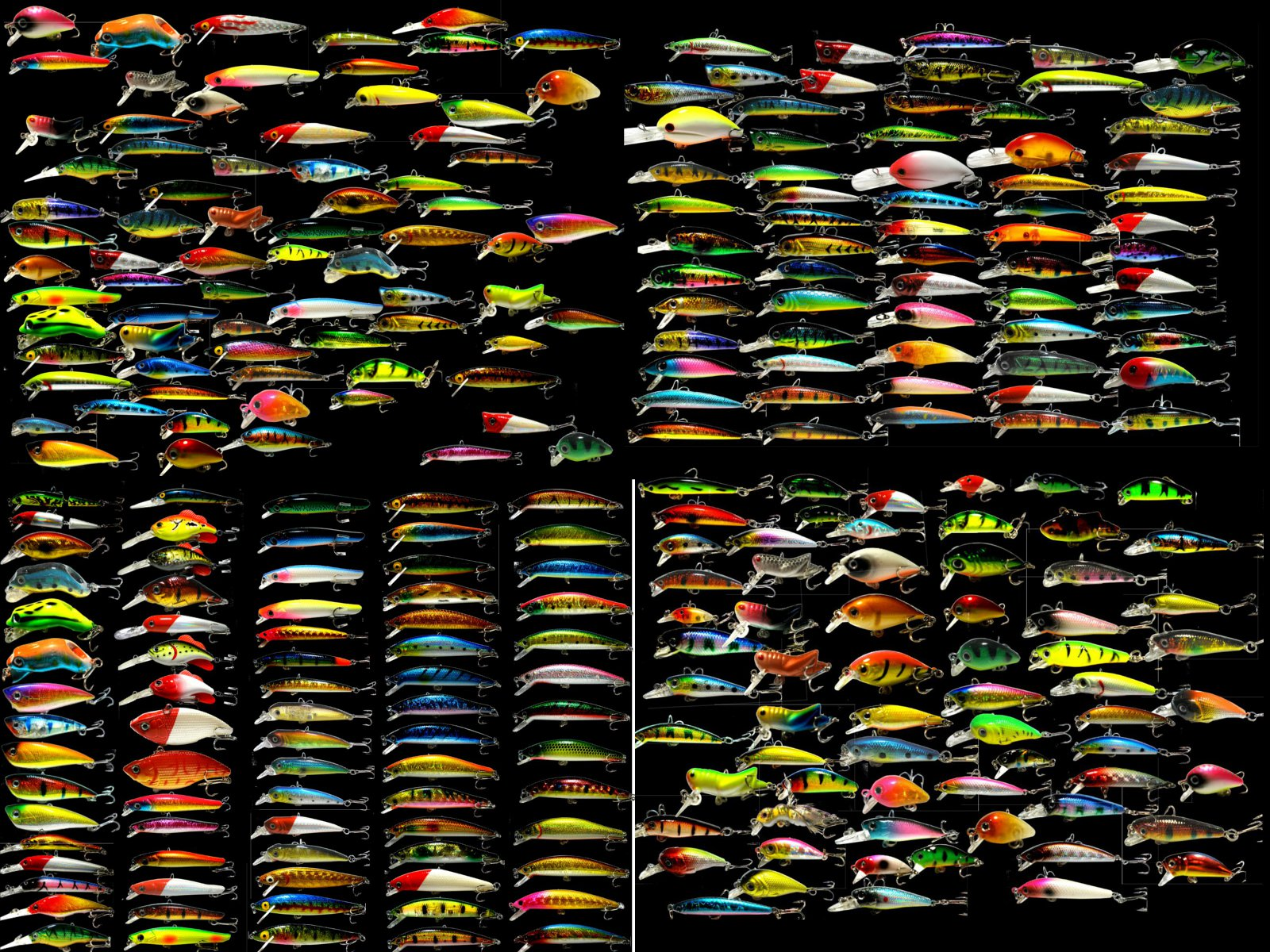 Wholesale x250 mixed lot fishing lures ebay for Bulk fishing lures