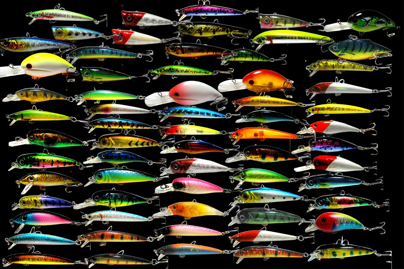 Wholesale x50 fishing lure lot medium lures ebay for Bulk fishing lures