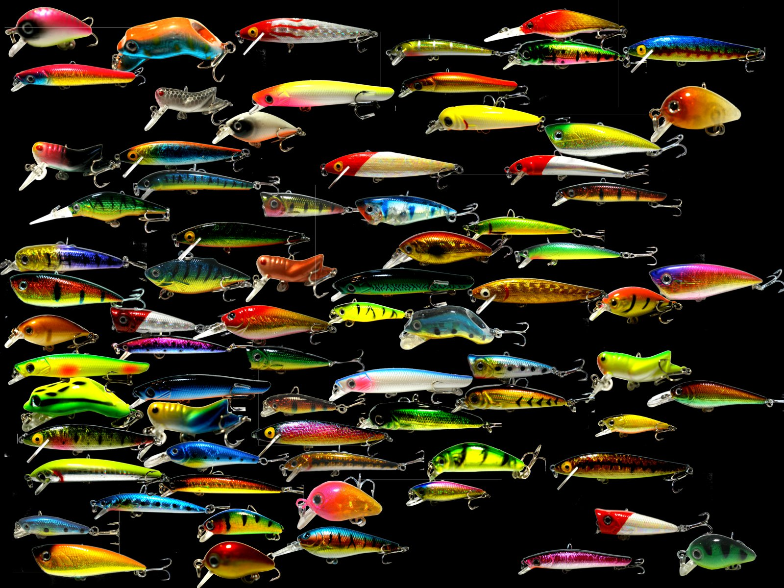 Mixed wholesale x50 lot fishing lures for Bulk fishing lures
